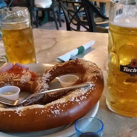 email pretzels beer