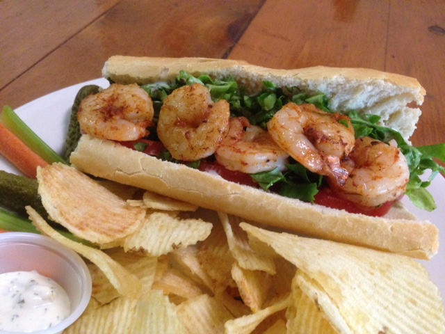 Blackened Shrimp Po boy